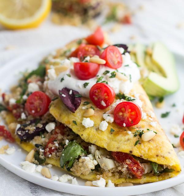 Omelett con relleno de Quinoa