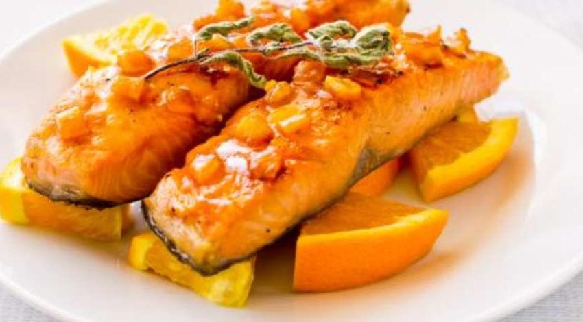 Pescado con Chipotle y Mandarina