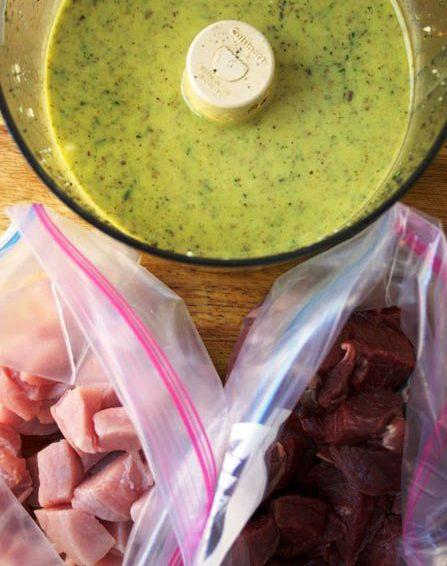 Marinada para pollo, cerdo y cordero