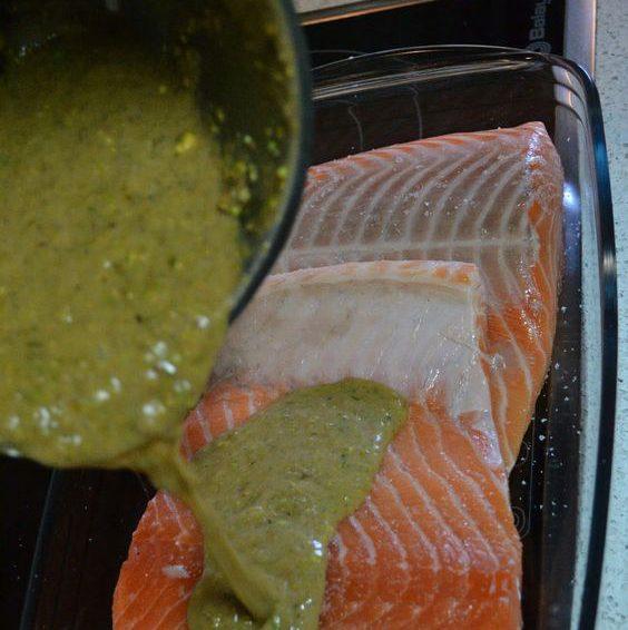 Salmón cítrico al horno