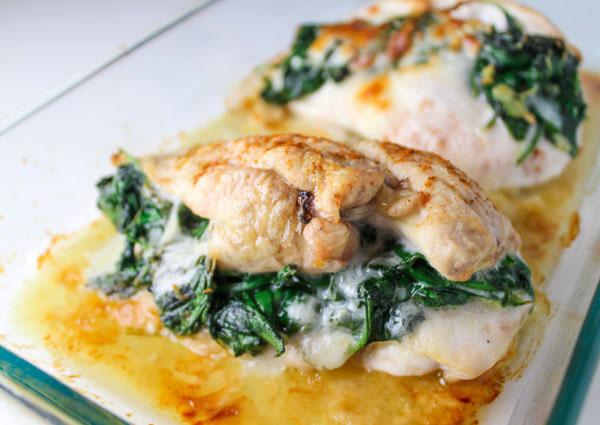Pechugas de pollo con provolone al horno