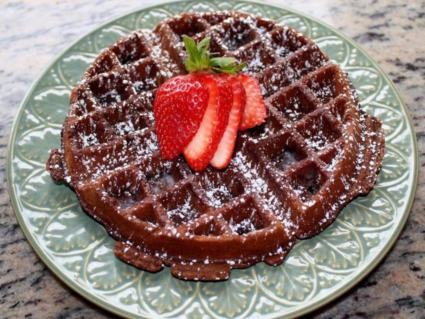 Waffles de Chocolate y Naranja