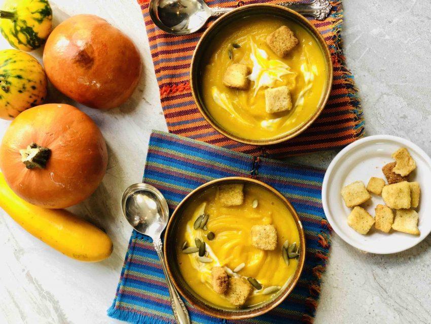 Crema de Calabaza con Aceite de Oliva con Hierbas de Provence