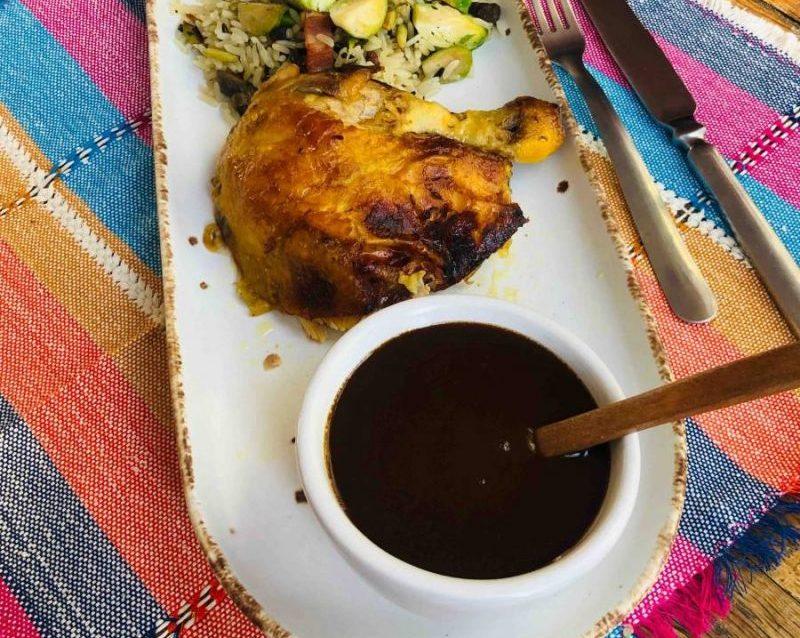 Salsa Gravy con Balsámico de Moras Negras y Jengibre